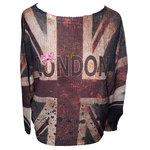 London Pulli mit nieten Hirsch